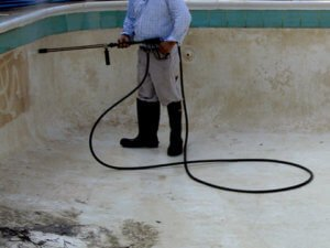 concrete pool pressure cleaning