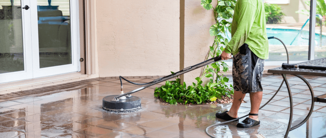Getting your pool deck pressure cleaning with dino 39 s for Pressure clean pools